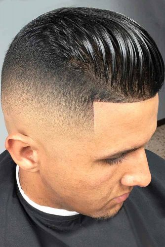 Bald Fade with Slicked Back Hair picture3