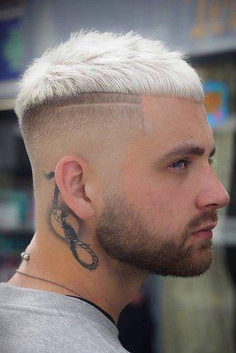 Blonde High And Tight Caesar Haircut #haircuts #highandtighthaircut #menhaircuts