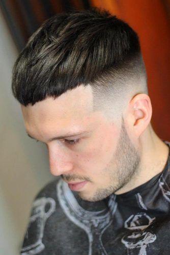 Brown High And Tight Caesar Haircut #haircuts #highandtighthaircut #menhaircuts
