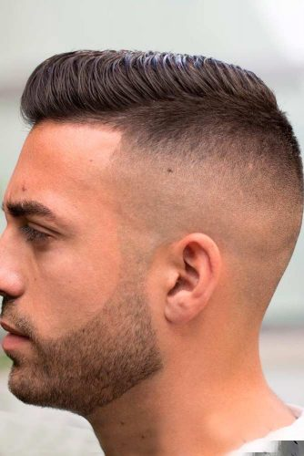 High Skin Fade with Short Side Part picture1
