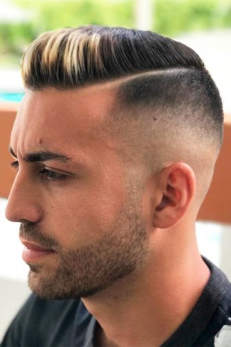 High Skin Fade with Short Side Part picture3