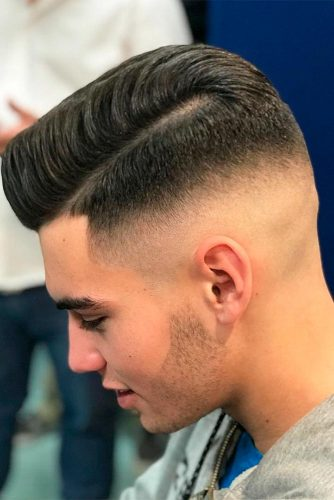 High Skin Fade with Short Side Part picture2