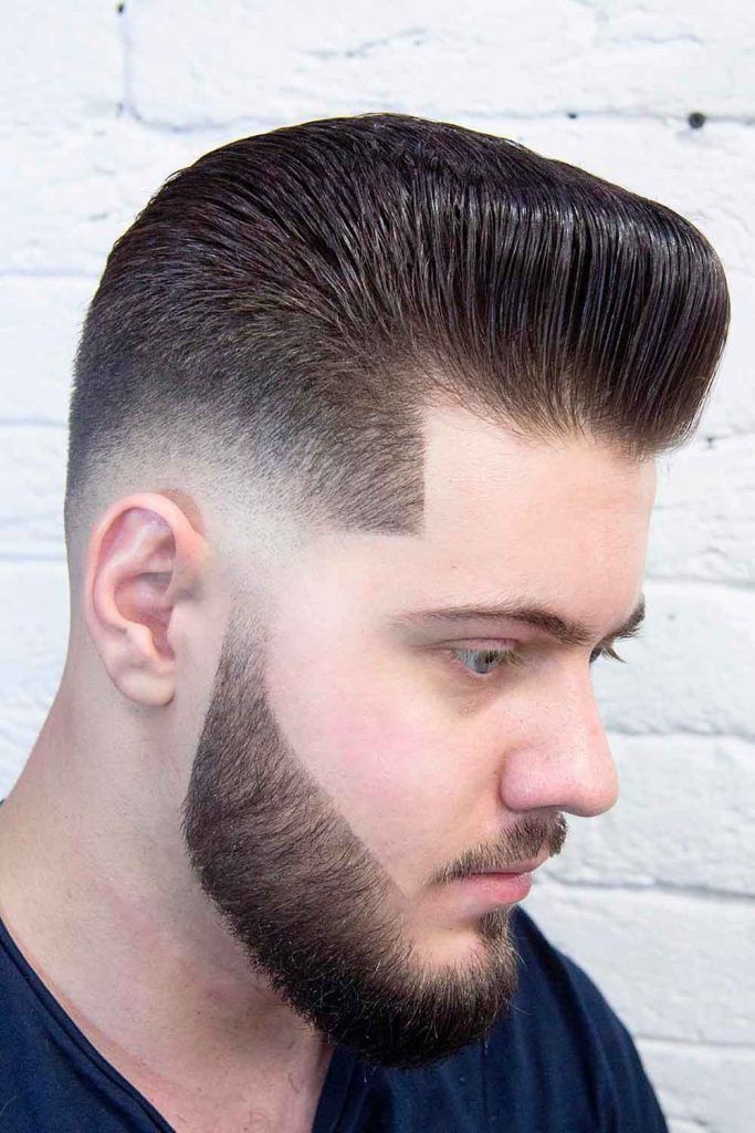 Bald Fade With Slicked Back Hair