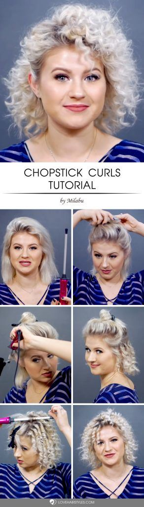 Chopstick Curls Tutorial #howtocurlshorthair #shorthairstyles #hairstyles #curlyhair #tutorial