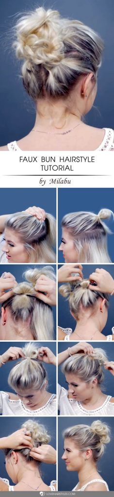 Faux Bun Hairstyle