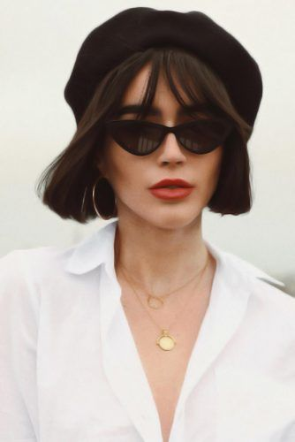 Traditional Berets Bob With Fringe #hairaccessories #beret