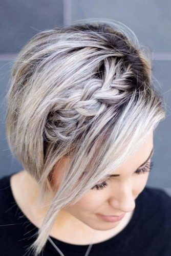 Messy Flirty And Girly Braided Pixie Bob #pixiebob #haircuts #hairstyles #braids