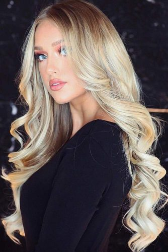 Long Platinum Creamy Blonde Hair #blondehair