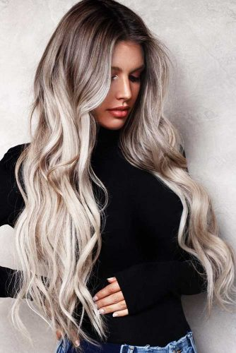 Platinum Blonde Dye Variations: Balayage, Highlights, Ashy Ombre #blondehair #ombre