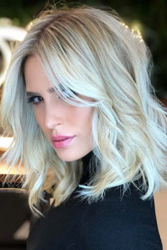 Platinum Blonde Bob With Pearly Hues #blondehair #bob
