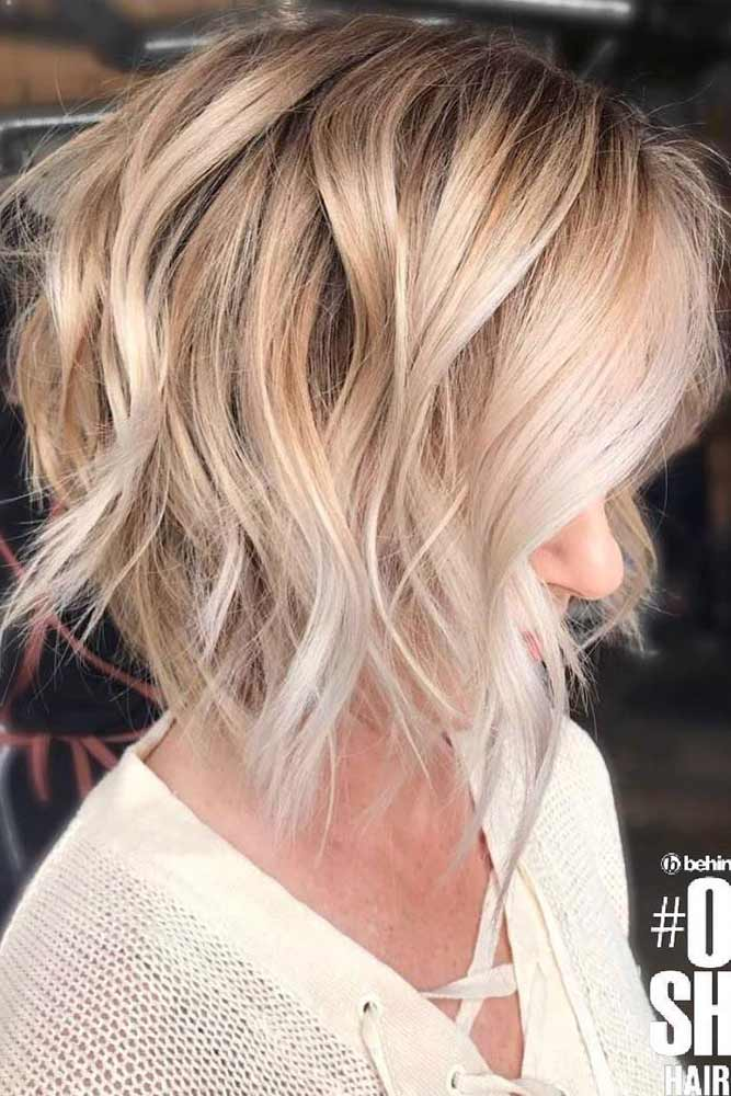Shag Haircut For Blonde Girls Balayage #shaghaircut #haircuts #bobhaircut #mediumhair #blondehair