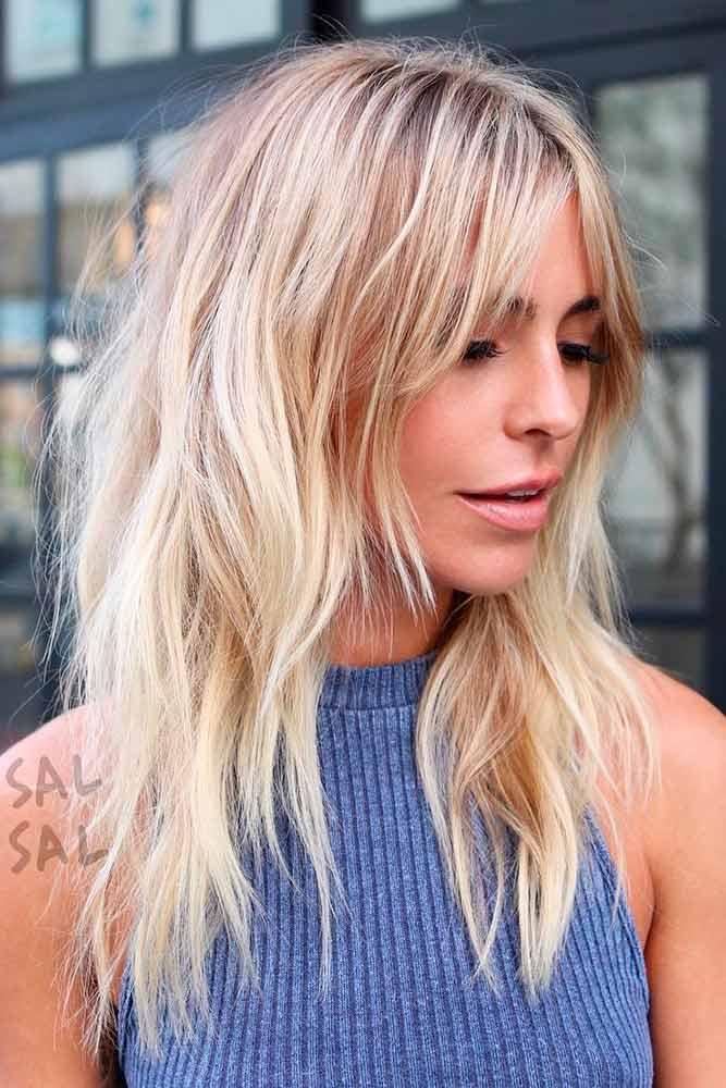 Blonde Messy Bedhead Long Shag #shaghaircut #haircuts #longhair