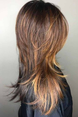 Feathered Long Shag Haircut #shaghaircut #haircuts #longhair