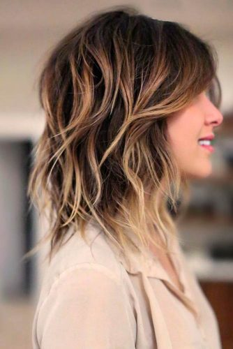 Messy Shoulder Length Shag Haircut #shaghaircut #haircuts #bobhaircut #mediumhair