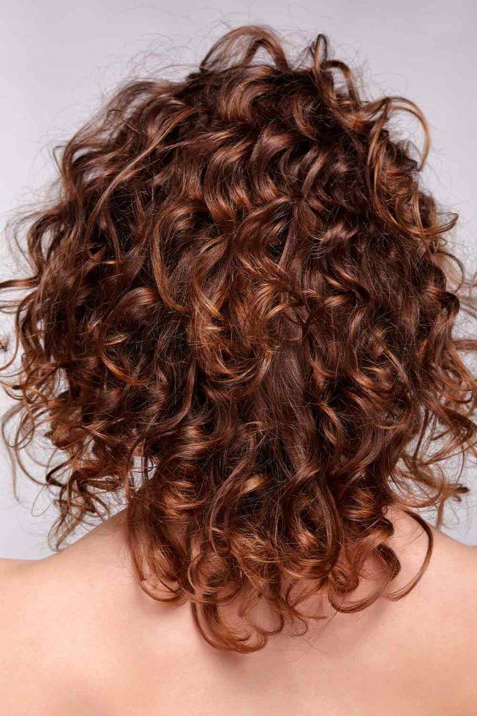 Medium Shag Haircut For Curly Hair