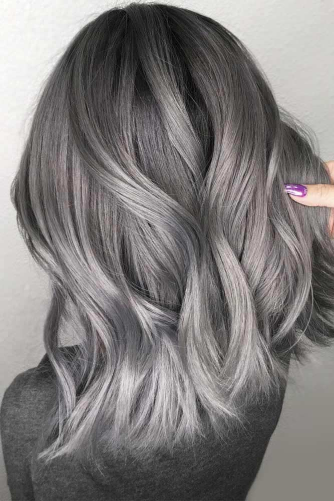 Ash Gray Black Roots #greyhair