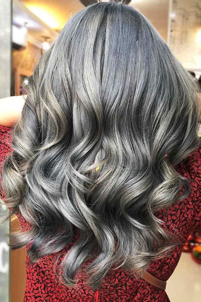 Ash Gray Waves #greyhair