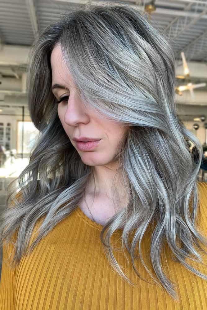 Ash Gray Layers #springhaircolors