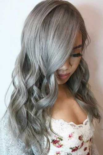 Ash Gray Long Hair #greyhair