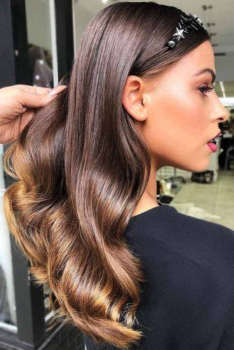 Chestnut Brown And Gold Ends #brunette #brownhair #blondehair