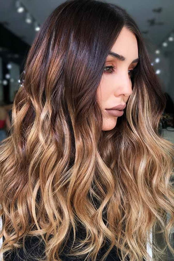 Chestnut Brown And Gold Ombre #brunette #brownhair #blondehair