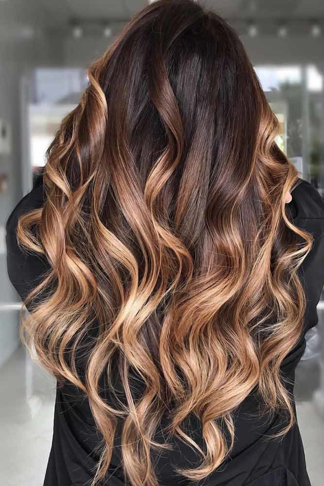 Chestnut Brown And Gold Ombre #springhaircolors