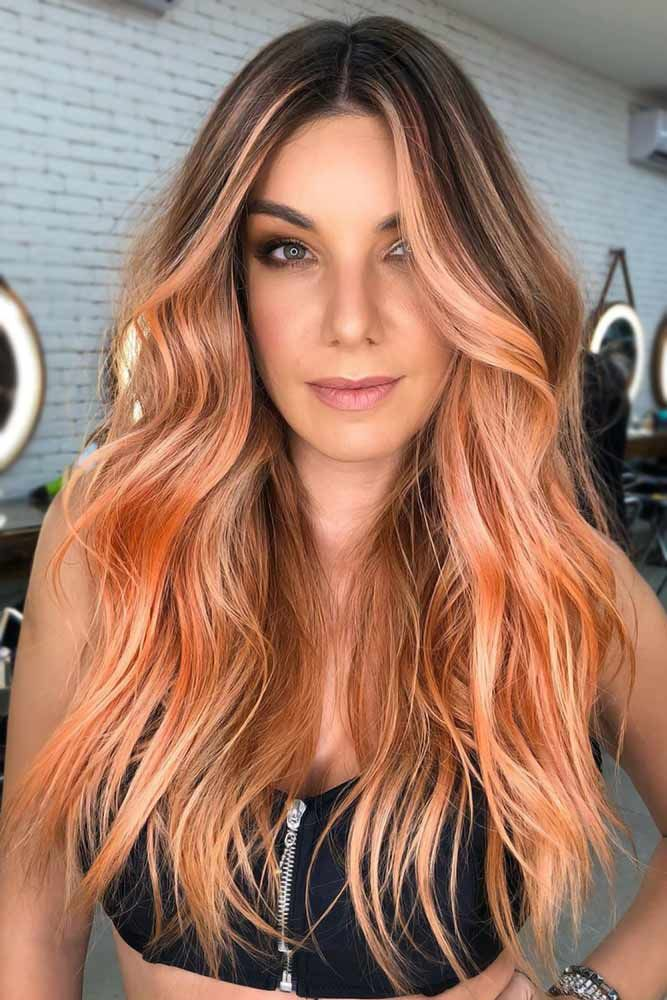 Coral Copper Messy #springhaircolors