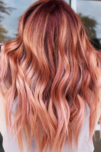 Coral Copper Layers #springhaircolors