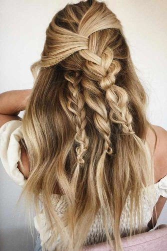 Honey Blond Braids #springhaircolors