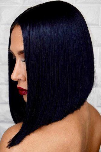 Inky Black Bob #brunette #blackhair