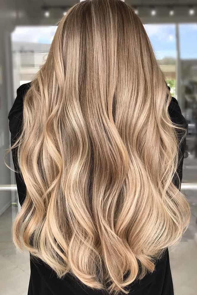 Nude Hair Waves #springhaircolors