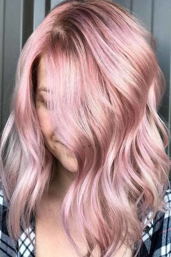 Rose Gold Color Medium #springhaircolors