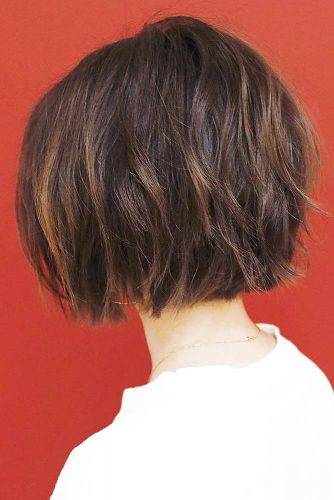 Short Bob Layered #layeredhair #shorthair #bob