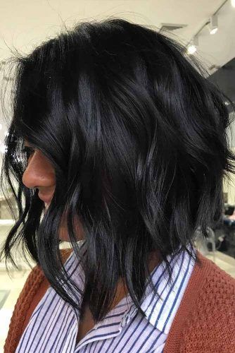 Wavy A line Bob #haircutsforroundfaces #haircuts #roundfaces #bobhaircuts