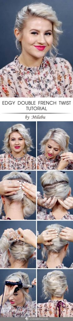 Edgy Double French Twist Tutorial