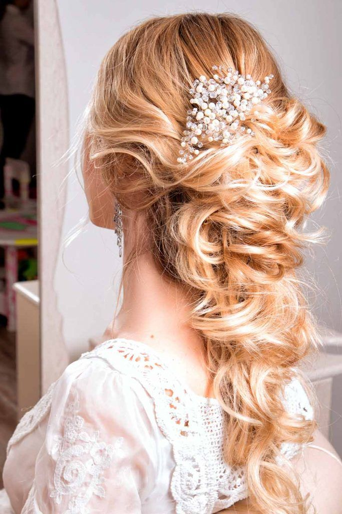 Blonde Gorgeous Wedding Hairstyles With Accessories