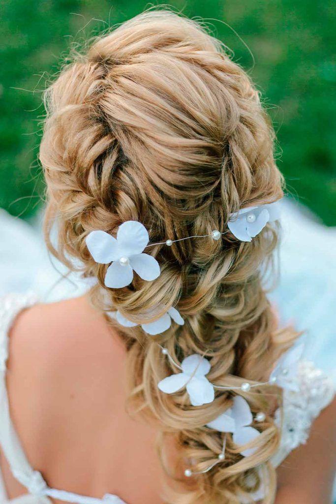 Voluminous Braided Boho Wedding Hairstyles With Accessories