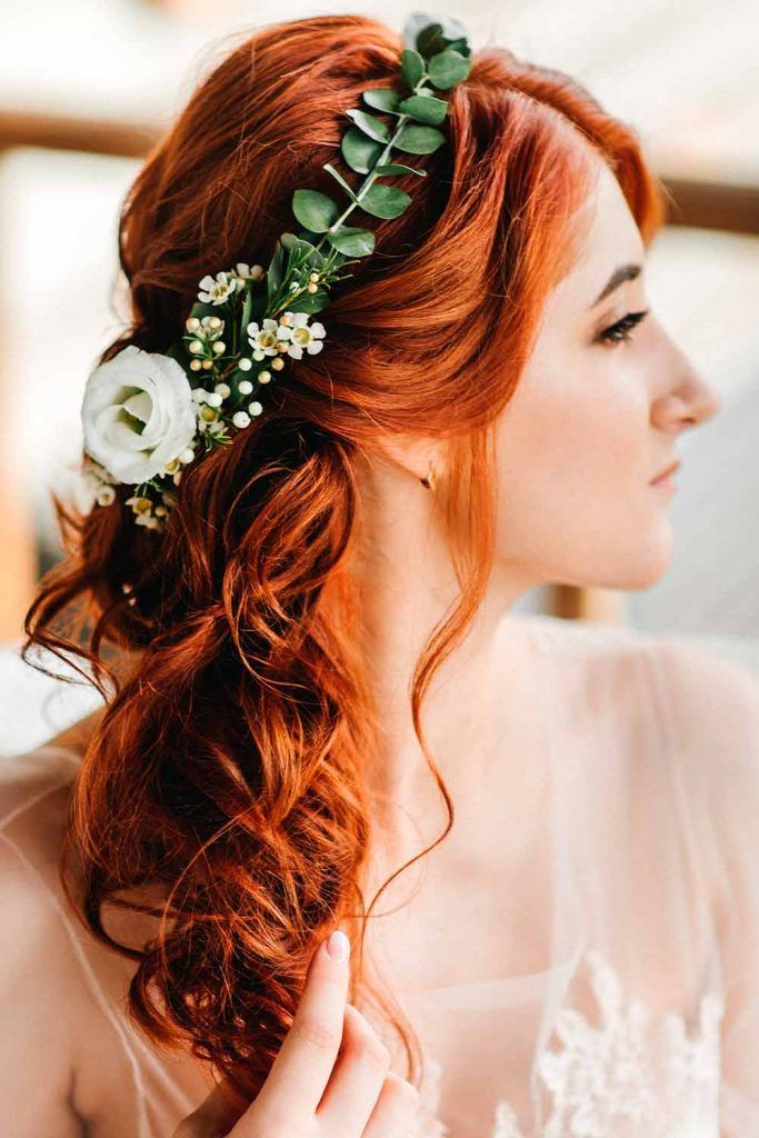 Easy Wedding Hairstyles With Fabulous Bohemian Accessories