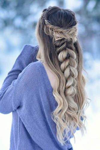Boho Inspired Half Up Half Down Hairstyles picture 1