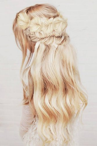Boho Inspired Half Up Half Down Hairstyles picture 6