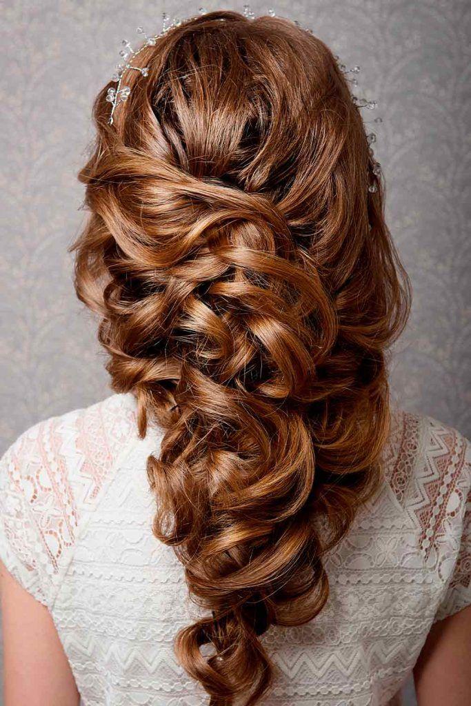 Voluminous Braided Boho Wedding Hairstyles