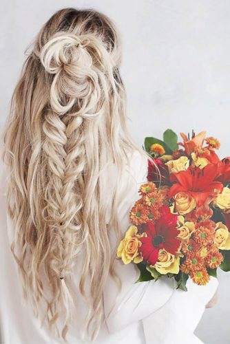 Boho Inspired Half Up Half Down Hairstyles picture 5