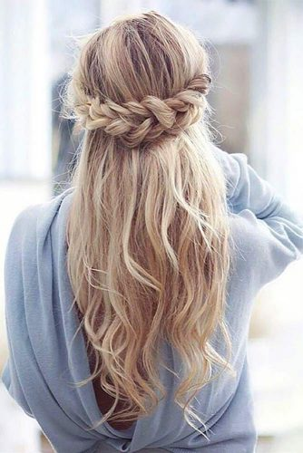 Boho Inspired Half Up Half Down Hairstyles picture 3