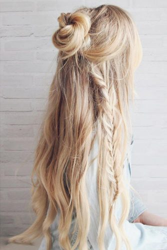 Boho Inspired Half Up Half Down Hairstyles picture 2