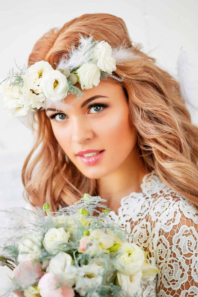 Wedding Hairstyles With Fabulous Bohemian Accessories