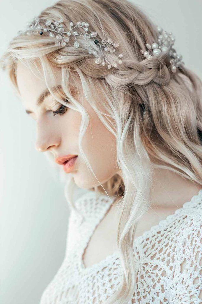 Blonde Boho Inspired Half Up Half Down Hairstyles