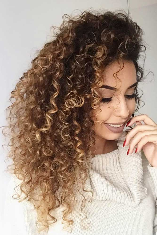 Side Part Long Curly Hair picture1