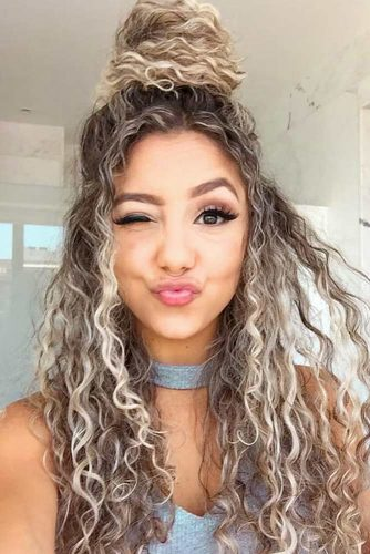 Top Knot For Long Curly Hairstyles picture2