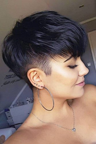 Pixie Hair Cuts With An Undercut #pixiehairstyles #pixiecut #shorthair #undercut #blackhair