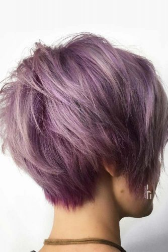 Extravagant Ladies Style Purple Color #pixiehairstyles #pixiecut #shorthair #hairstyles #purplehair